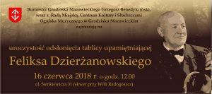 Odsłonięcie tablicy poświęconej Feliksowi Dzierżanowskiemu @ Grodzisk MAzowiecki | Grodzisk Mazowiecki | mazowieckie | Polska