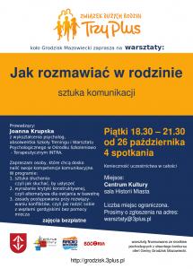 Sztuka Komunikacji w rodzinie @ Centrum Kultury, sala historii miasta | Grodzisk Mazowiecki | mazowieckie | Polska