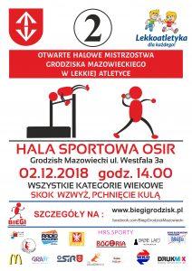 2. OTWARTE HALOWE MISTRZOSTWA GRODZISKA MAZ. W LEKKIEJ ATLETYCE. @ Hala Sportowa OSIR | Grodzisk Mazowiecki | mazowieckie | Polska