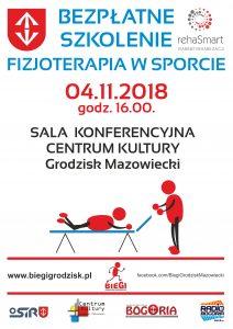 SZKOLENIE: FIZJOTERAPIA W SPORCIE. @ Sala Konferencyjna Centrum Kultury   Grodzisk Mazowiecki   mazowieckie   Polska