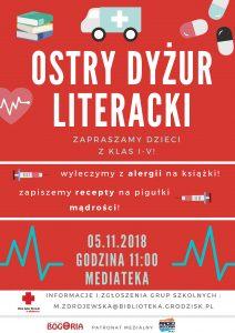 Ostry Dyżur Literacki @ Mediateka | Grodzisk Mazowiecki | mazowieckie | Polska