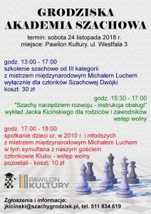 Grodziska Akademia Szachowa @ Pawilon Kultury | Grodzisk Mazowiecki | mazowieckie | Polska