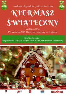 Kiermasz Świąteczny w PKP @ Poczekalnia PKP