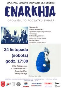 ENARKHIA - spektakl słowno-muzyczny. @ Willa Radogoszcz  | Grodzisk Mazowiecki | mazowieckie | Polska