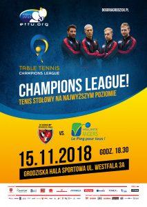 4 kolejka Ligi Mistrzów Tenisa Stołowego KS Bogoria - VS Angers (Francja) @ Grodziska Hala Sportowa | Grodzisk Mazowiecki | mazowieckie | Polska