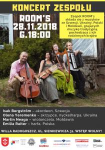 Koncert zespołu ROOMs @ Willa Radogoszcz  | Grodzisk Mazowiecki | mazowieckie | Polska