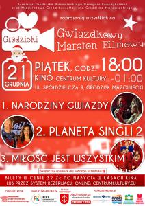 III Grodziski Gwiazdkowy Maraton Filmowy @ Kino Centrum Kultury w Grodzisku Mazowieckim