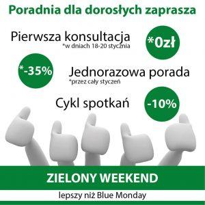 """Zielony weekend @ Gabinet Terapii dla Dorosłych """"Huśtawka"""""""