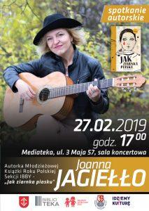 Spotkanie z Joanną Jagiełło @ Mediateka