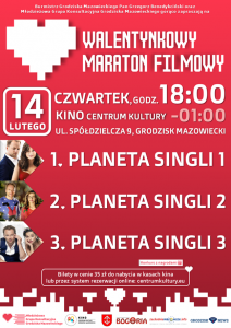 Walentynkowy Maraton Filmowy w Grodzisku @ Kino Centrum Kultury