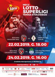 LOTTO Superliga Tenisa Stołowego: Bogoria Grodzisk Mazowiecki - Energa KTS Toruń @ Grodziska Hala Sportowa