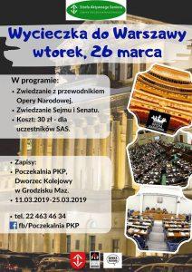 Wycieczka do Opery Narodowej, Sejmu i Senatu w ramach SAS @ Centrum Kultury