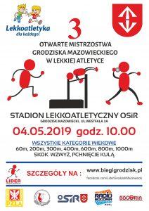 3. Otwarte Mistrzostwa Grodziska Maz. w Lekkiej Atletyce. @ Stadion OSiR Grodzisk Maz.