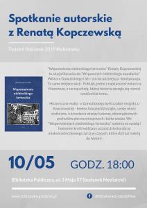 Spotkanie z Renatą Kopczewską @ Biblioteka Publiczna
