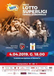 Mecz na szczycie Lotto Superligi Tenisa Stołowego Bogoria- AZS Gdańsk @ Grodziska Hala Sportowa