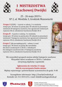 I Mistrzostwa Szachowej Dwójki @ Szkoła Podstawowa nr 2