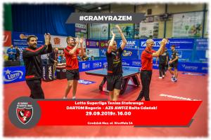 Mecz Superligi Tenisa Stołowego- Bogoria Grodzisk - AZS AWFIZ Gdańsk @ Grodziska Hala Sportowa