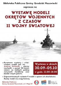 Wystawa modeli okrętów wojennych @ Biblioteka Publiczna