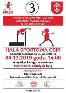 3. Otwarte Halowe Mistrzostwa Grodziska Maz. w Lekkiej Atletyce. @ Hala Sportowa OSiR