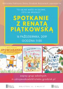 Spotkanie z Renatą Piątkowska @ Biblioteka Publiczna
