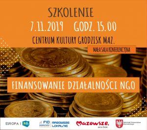 Finansowanie Działalności NGO @ Centrum Kultury w Grodzisku Maz. - mała sala konferencyjna