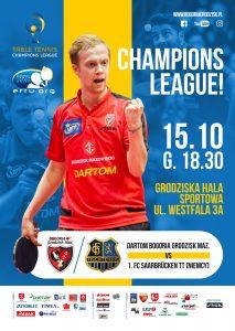 Liga Mistrzów Tenisa Stołowego Bogoria Grodzisk - FCTT Saarbrucken @ Grodziska Hala Sportowa