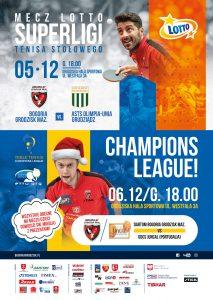 Lotto Superliga Tenisa Stołowego DARTOM Bogoria Grodzisk - ASTS Olimpia Grudziądz @ Grodziska Hala Sportowa