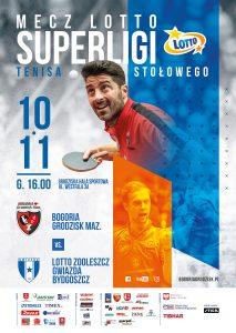 Lotto Superliga Tenisa Stołowego Bogoria Grodzisk Maz. - Gwiazda Bydgoszcz @ Grodziska Hala Sportowa