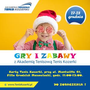 Gry i zabawy w przerwie świątecznej z Tenis Kozerki @ korty Tenis Kozerki (filia Grodzisk Maz.)