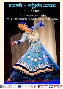 Vasanta, indyjska wiosna - pokaz tańca - Willa Niespodzianka