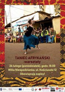 Taniec afrykański - warsztaty - Willa Niespodzianka