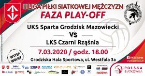 II Liga Mężczyzn: UKS Sparta Grodzisk Mazowiecki - LKS Czarni Rząśnia @ Grodziska Hala Sportowa