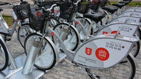 Stacja wypożyczania rowerów miejskich przy ul. Piaskowej w Grodzisku Maz.