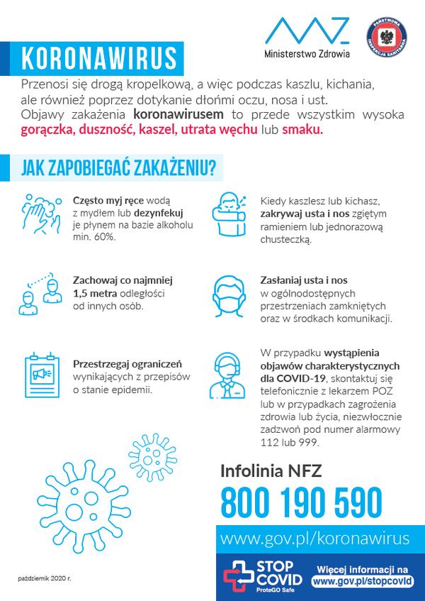 Koronawirus - jak zapobiegać zarażeniu