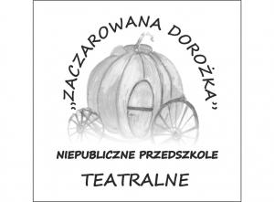 Logo przedszkola teatralnego, karoca z dyni
