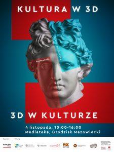 Plakat konferencji 3D w kulturze
