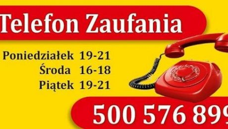 Plakat z numerem telefonu zaufania