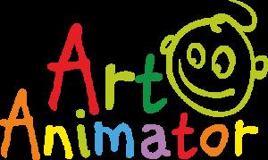 Logo firmy Art Animator z rysynkiem buzi