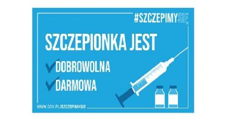 szczepionka jest dobrowolna i bezpłatna