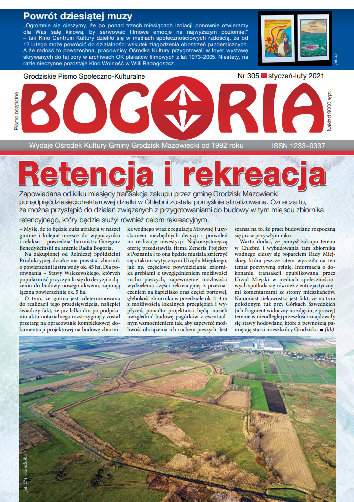 """Okładka """"Bogorii""""- wydanie styczeń-luty 2021"""