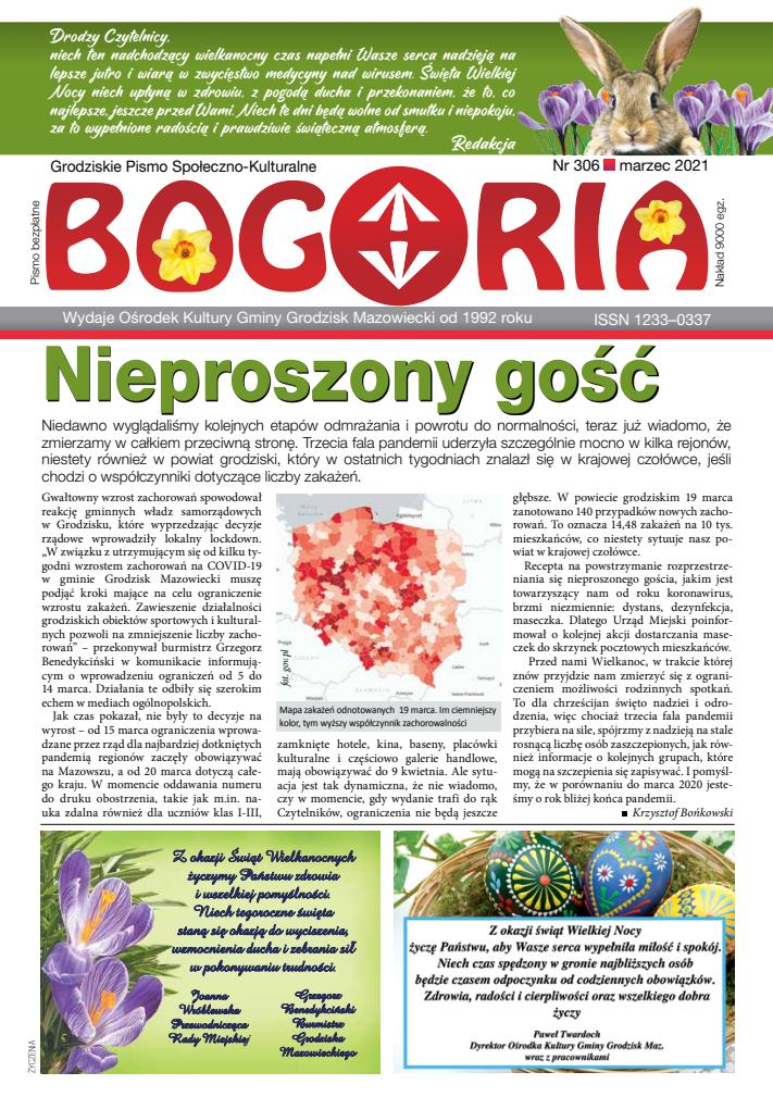 Okładka Bogorii, wydanie marzec 2021