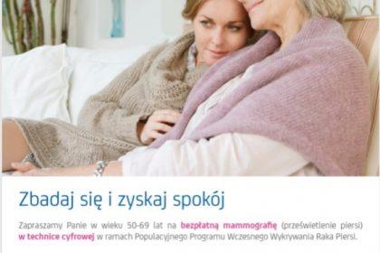 Zaproszenie na mamografię