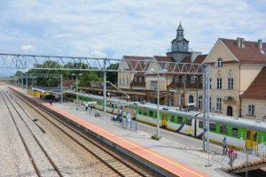 Widok na przebudowany dworzec PKP