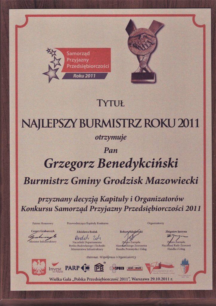 Burmistrz Roku Dyplom