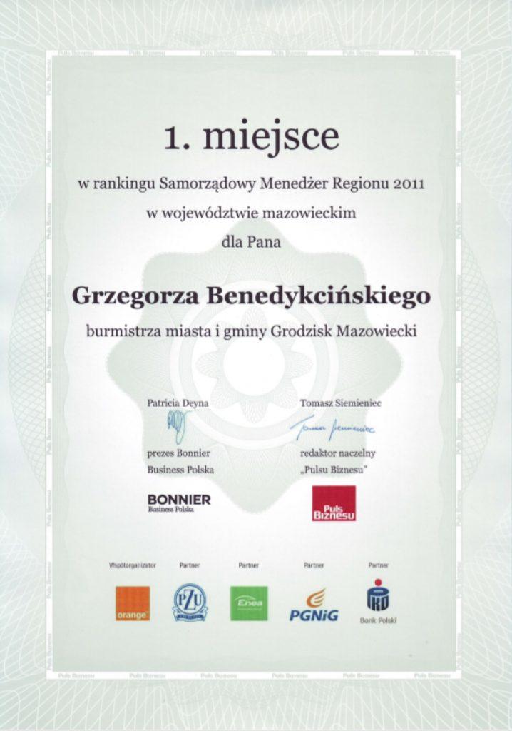 Dyplom Burmistrza Roku