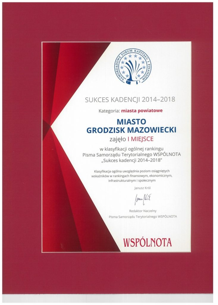 Dyplom sukceskadencji 2018