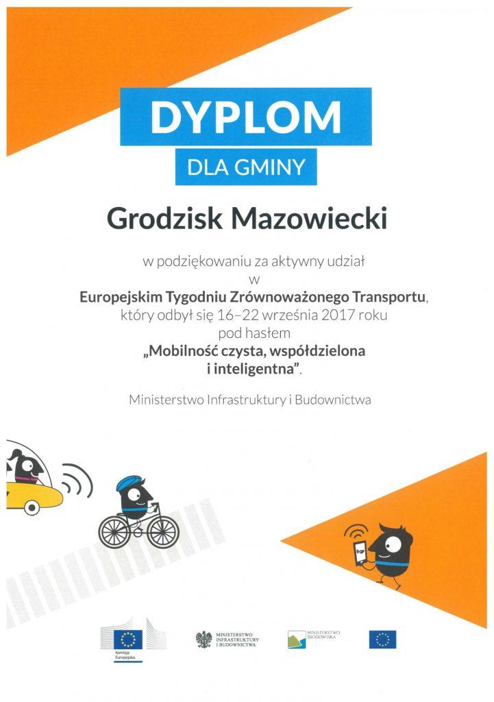 Dyplom Zróżnoważony transport