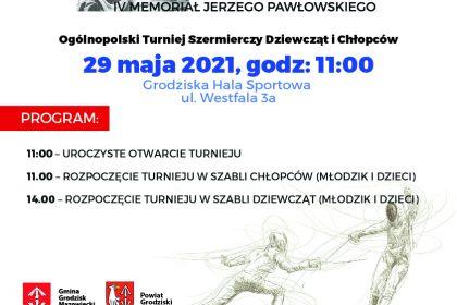Plakat ogólnopolskiego turnieju szermierczego