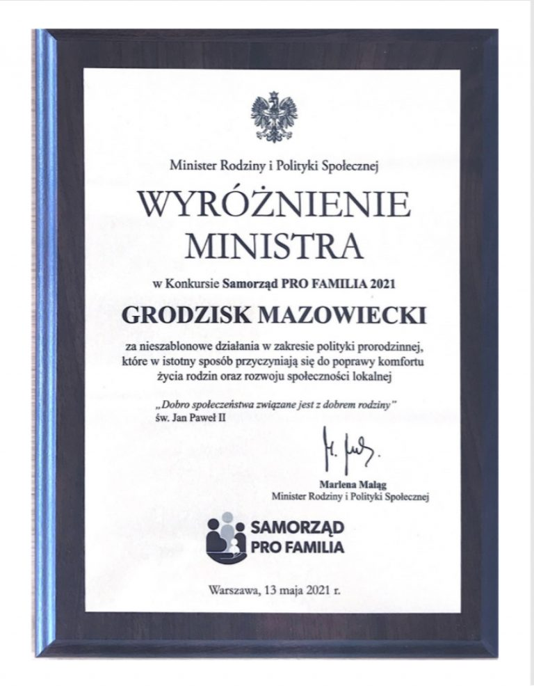 Wyróżnienie ministra