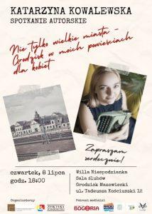 Spotkanie autorskie z Katarzyną Kowalewską